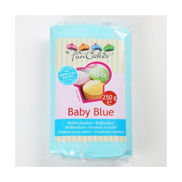 Pâte à sucre bleu/Baby blue - FunCakes