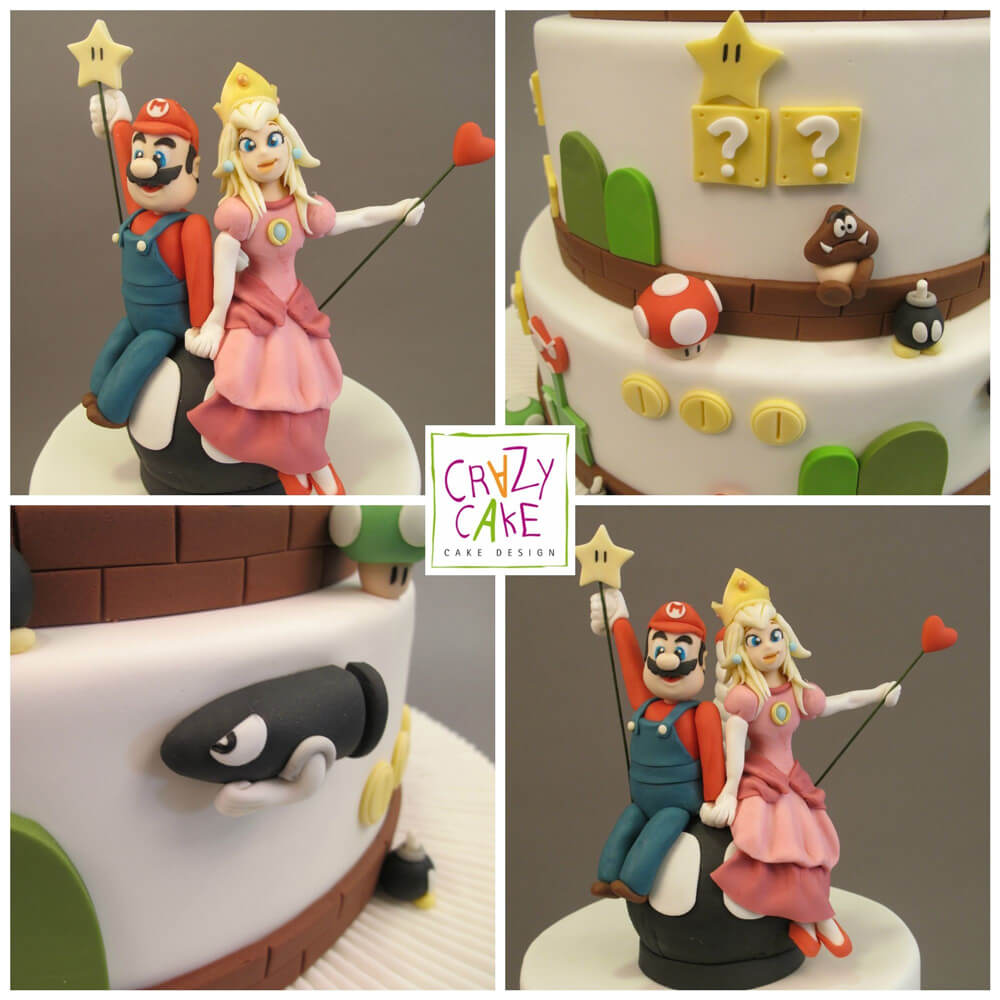 "Wedding Cake ""Mario et Peach"""