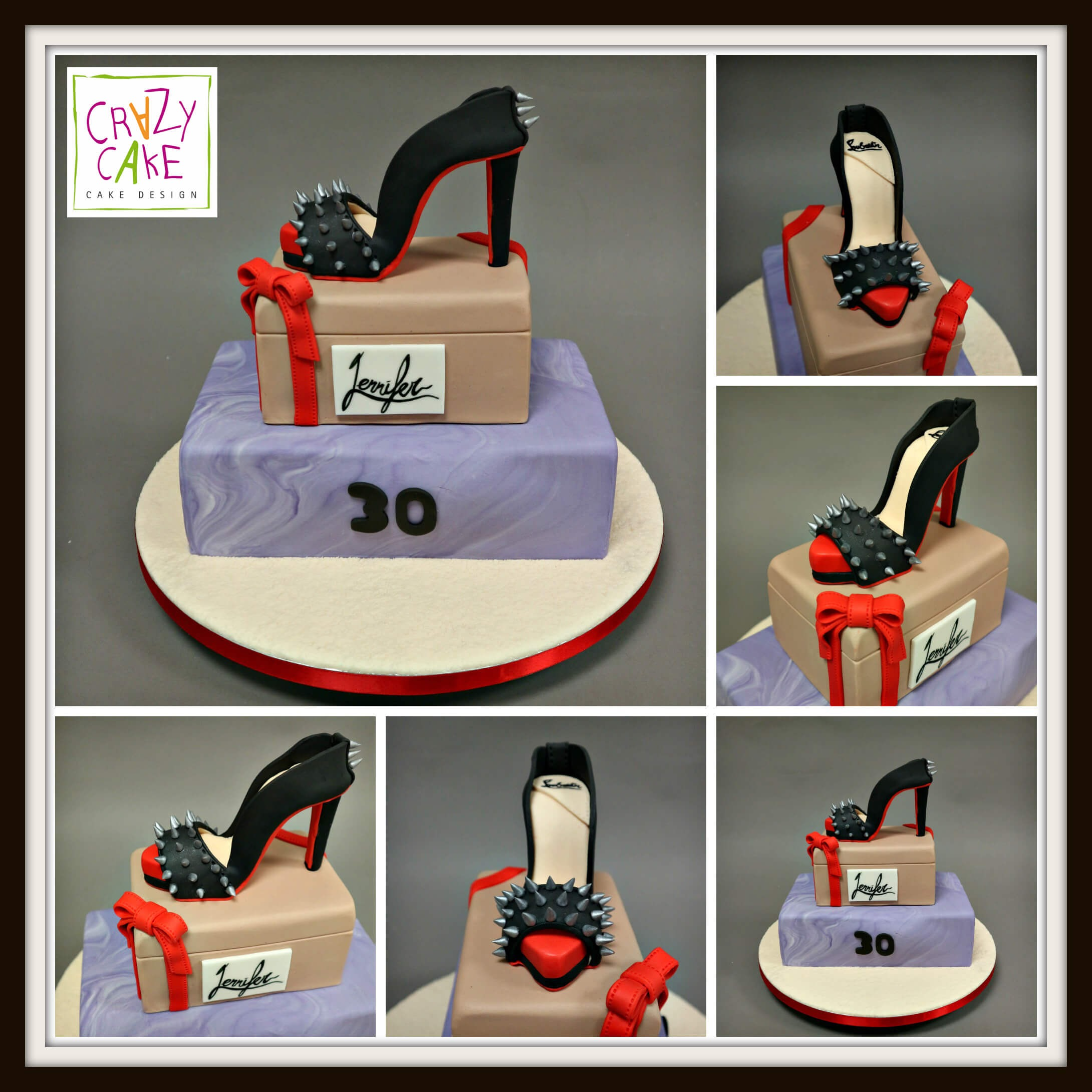 "Gâteau d'anniversaire ""Oh my Louboutin!"""