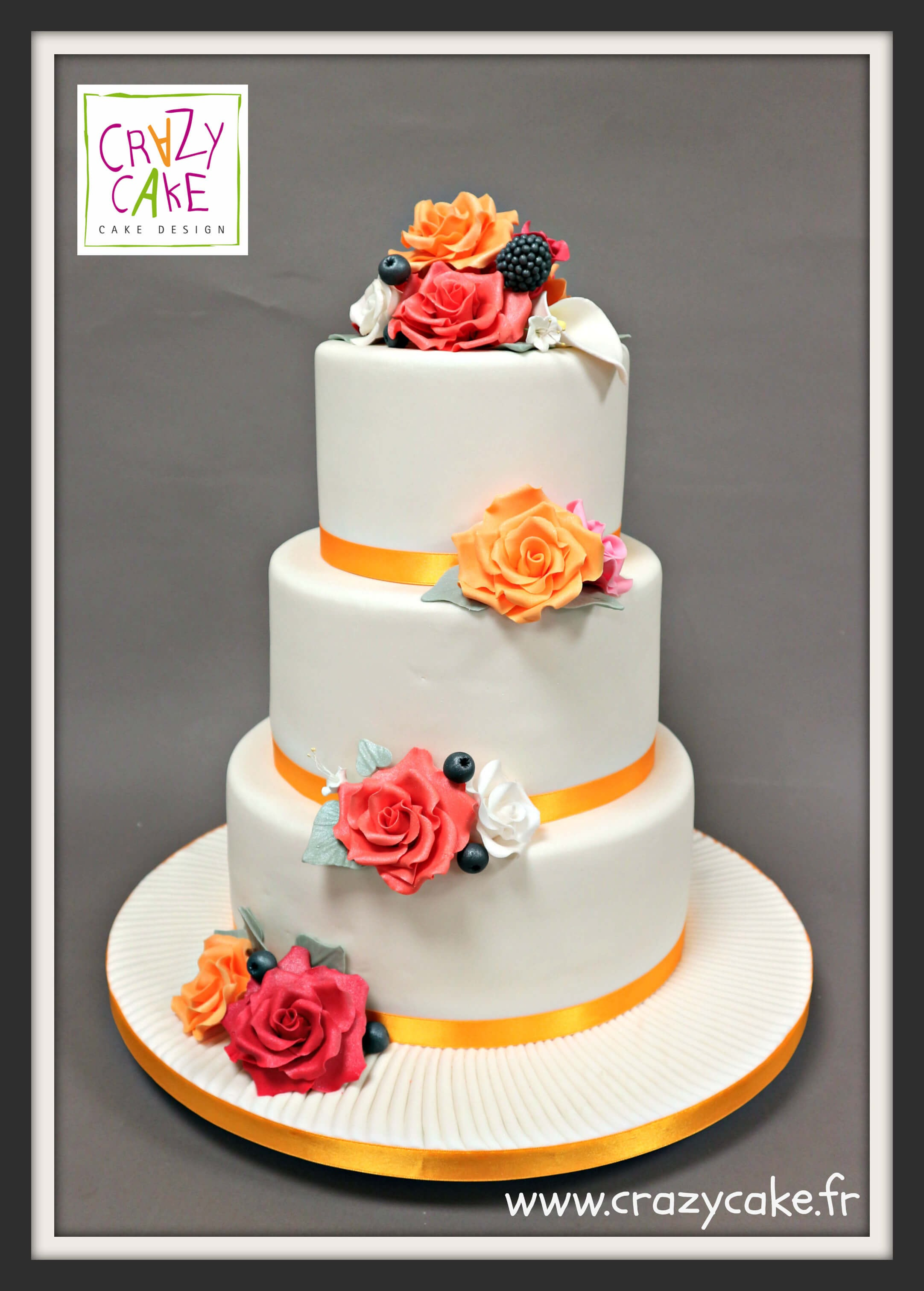 "Wedding Cake ""Roses d'automne"""