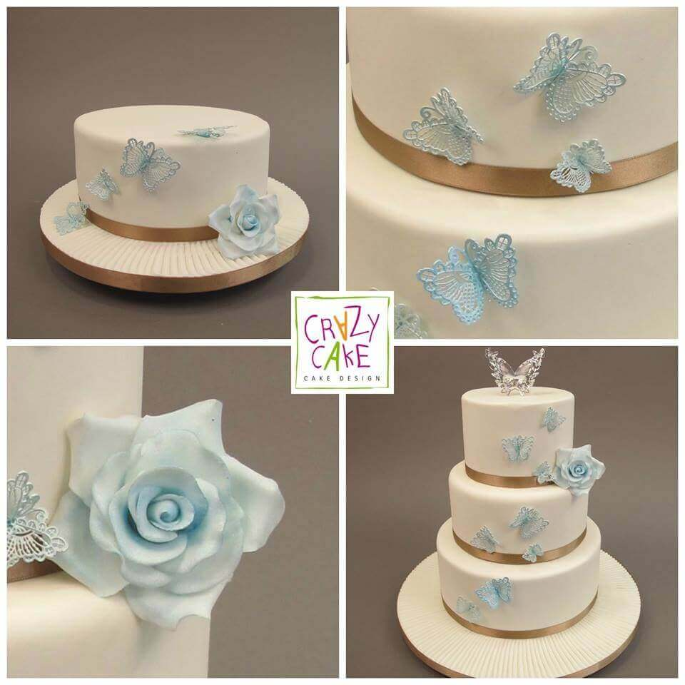 "Wedding Cake ""Dentelle Bleue"""