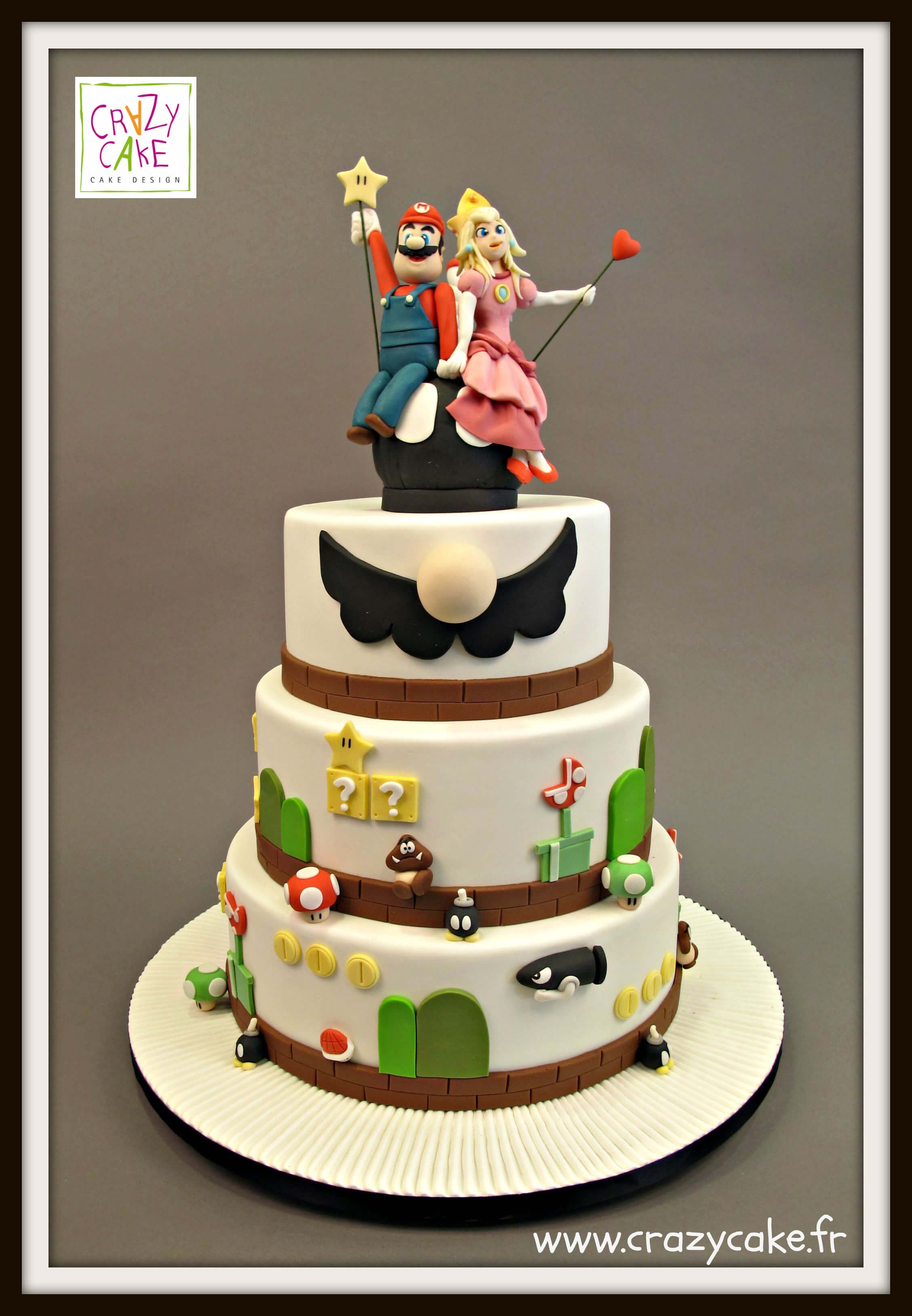 "Wedding Cake ""Mario & Peach"""