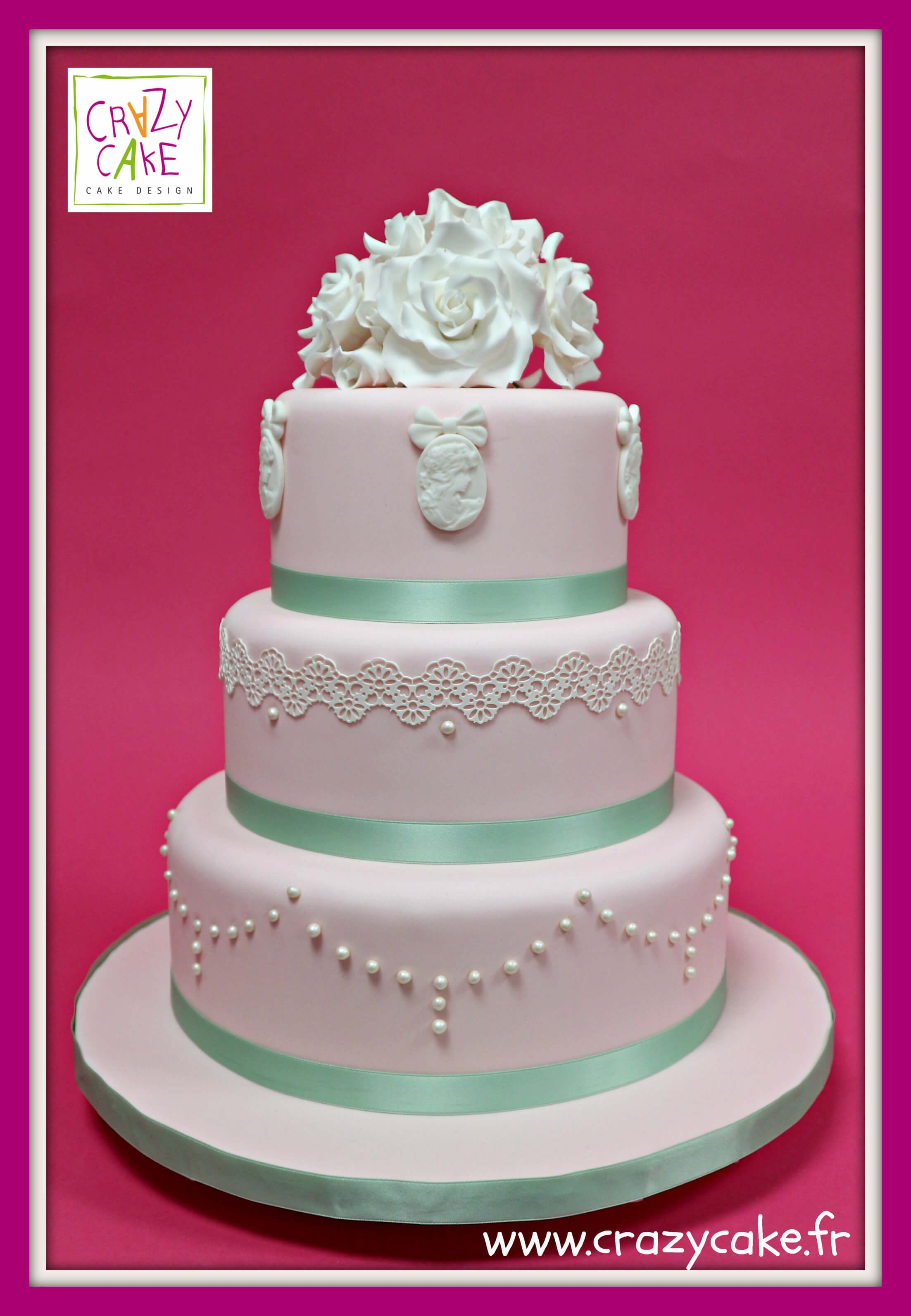 Wedding Cake Baroque Rose