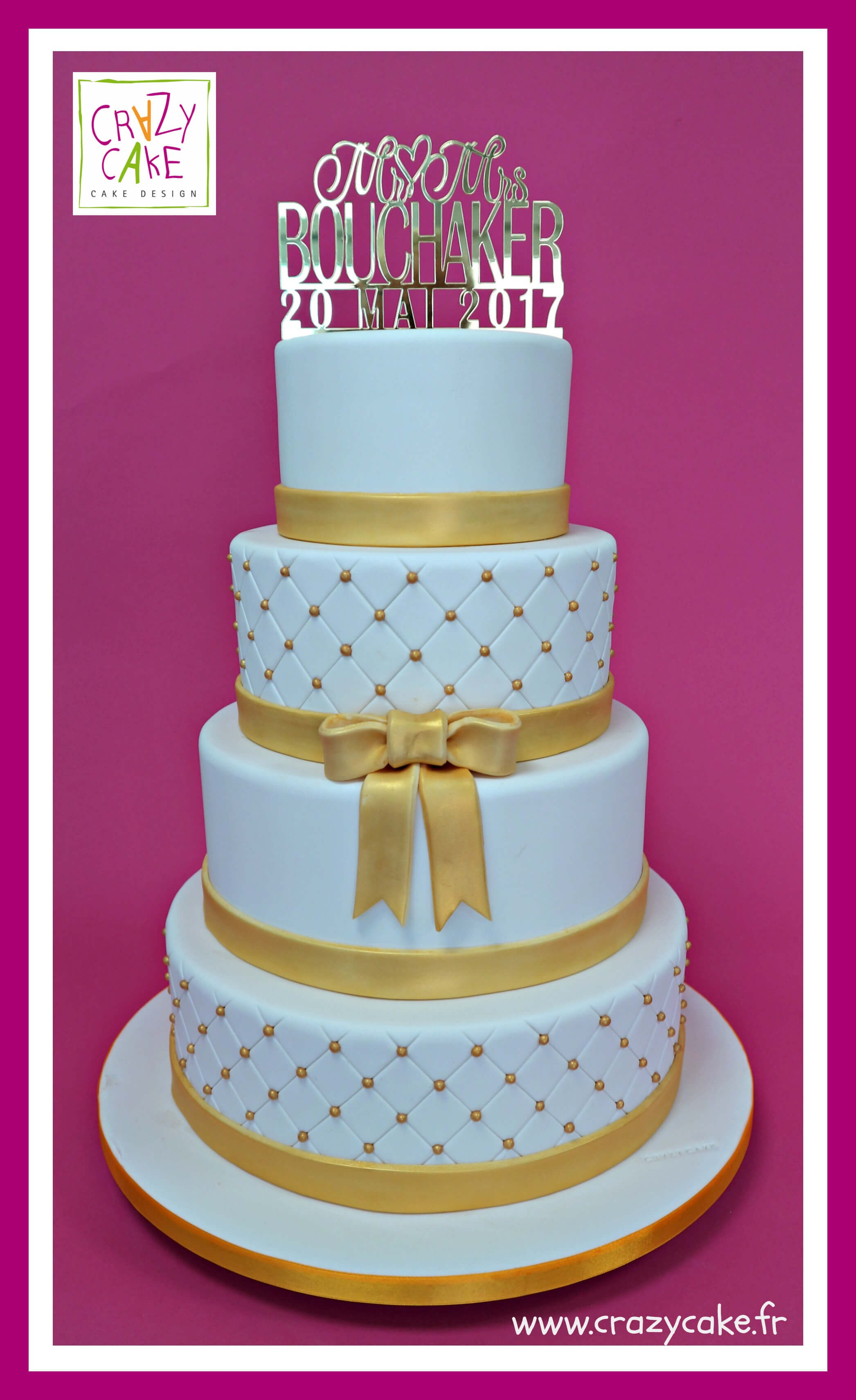 "Wedding Cake ""Golden Joy"""