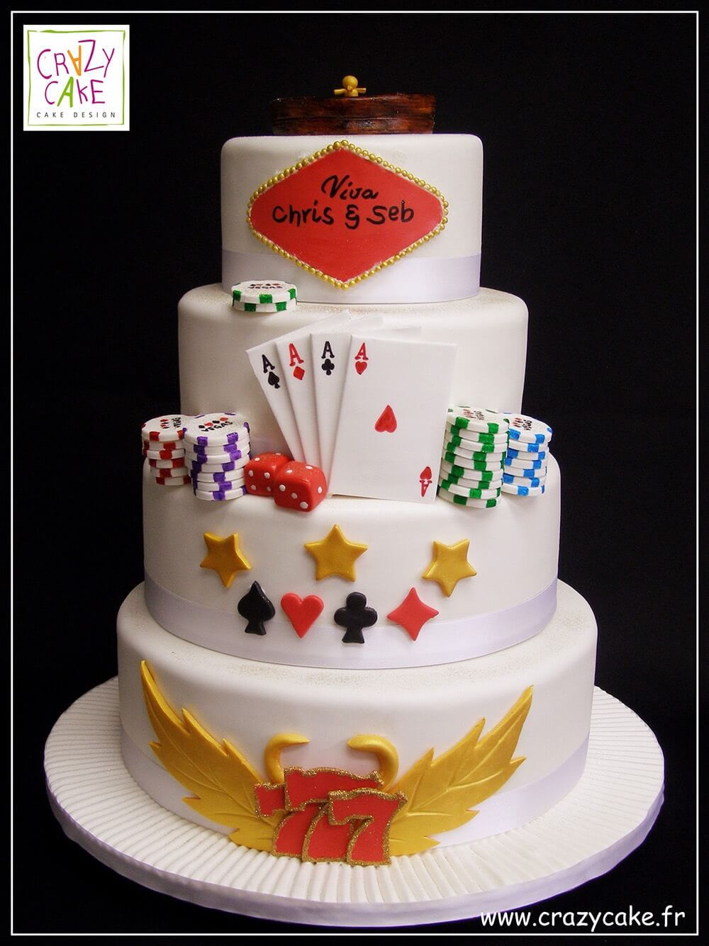 "Wedding Cake ""Casino"""
