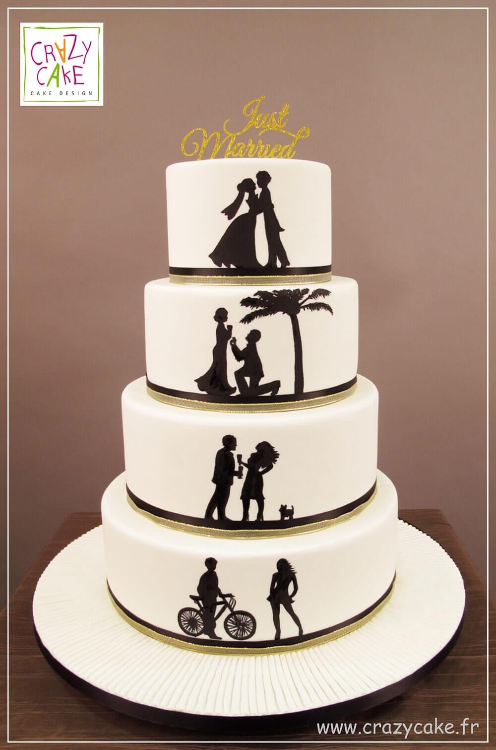 "Wedding Cake ""Silhouettes"""