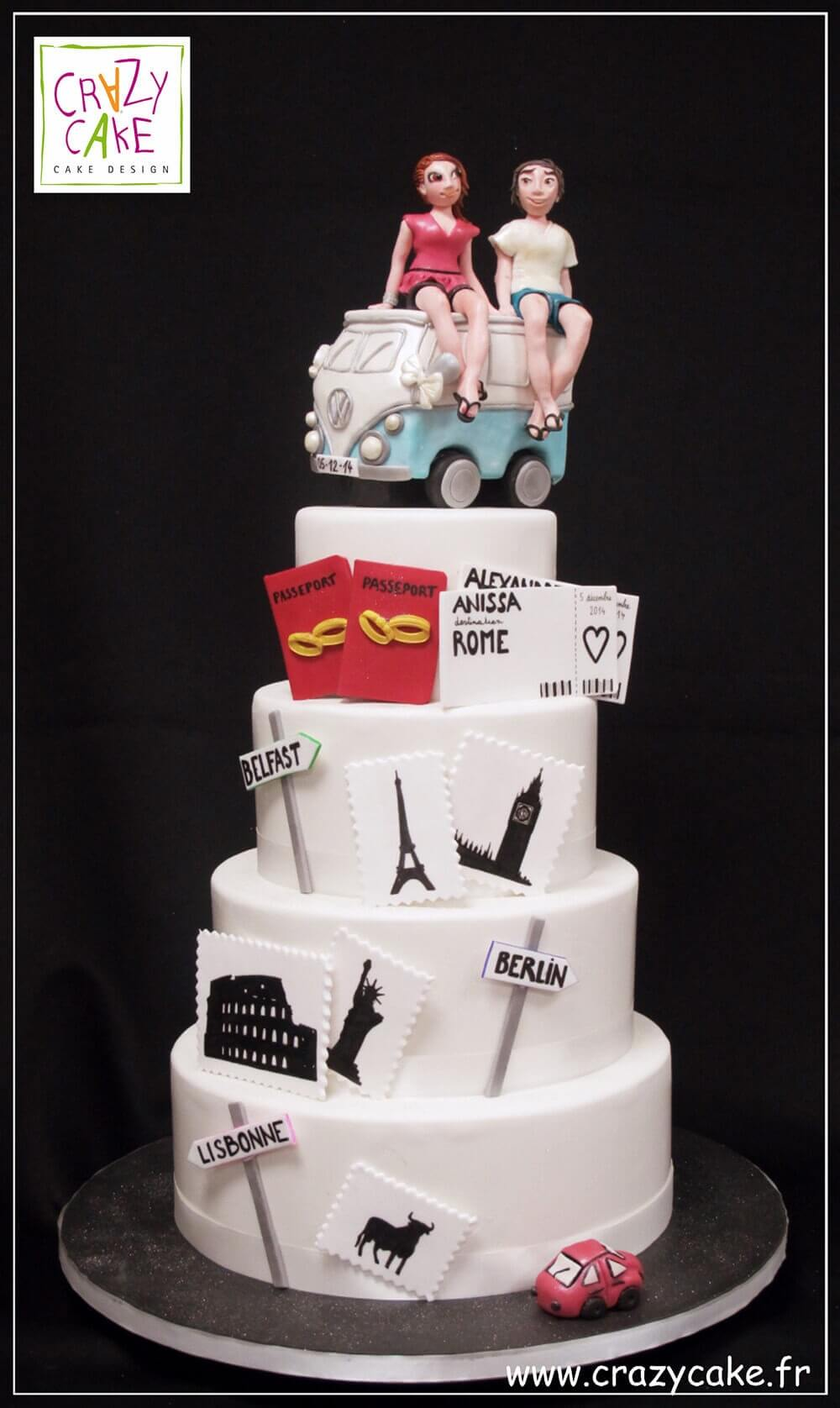 "Wedding Cake ""Voyages"""